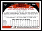 2009 Topps #476  Edison Volquez  Back Thumbnail
