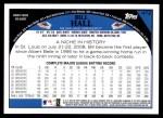 2009 Topps #472  Bill Hall  Back Thumbnail