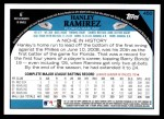 2009 Topps #450  Hanley Ramirez  Back Thumbnail