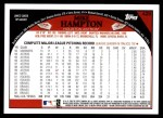2009 Topps #429  Mike Hampton  Back Thumbnail