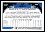 2009 Topps #565  Jose Lopez  Back Thumbnail