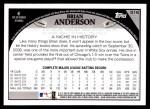 2009 Topps #516  Brian Anderson  Back Thumbnail
