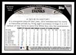 2009 Topps #548  John Danks  Back Thumbnail
