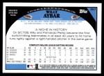 2009 Topps #567  Willy Aybar  Back Thumbnail