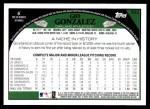2009 Topps #522  Gio Gonzalez  Back Thumbnail