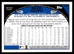 2009 Topps #539  Miguel Olivo  Back Thumbnail