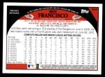 2009 Topps #624  Ben Francisco  Back Thumbnail