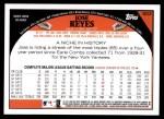 2009 Topps #603  Jose Reyes  Back Thumbnail