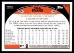 2009 Topps #653  Nick Evans  Back Thumbnail