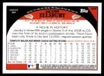 2009 Topps #660  Jacoby Ellsbury  Back Thumbnail