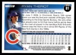 2010 Topps #81  Ryan Theriot  Back Thumbnail