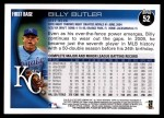 2010 Topps #52  Billy Butler  Back Thumbnail
