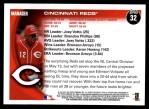2010 Topps #32   Reds Team Back Thumbnail
