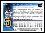 2010 Topps #156  Tony Gwynn Jr.  Back Thumbnail
