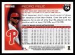 2010 Topps #154  Pedro Feliz  Back Thumbnail