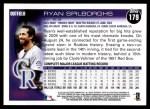2010 Topps #179  Ryan Spilborghs  Back Thumbnail