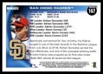 2010 Topps #167   Padres Team Back Thumbnail