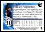 2010 Topps #158  Jeff Niemann  Back Thumbnail