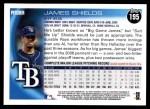 2010 Topps #195  James Shields  Back Thumbnail