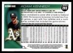 2010 Topps #283  Adam Kennedy  Back Thumbnail