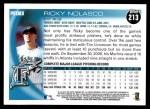 2010 Topps #213  Ricky Nolasco  Back Thumbnail