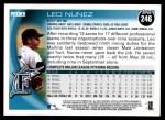 2010 Topps #246  Leo Nunez  Back Thumbnail