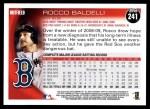 2010 Topps #241  Rocco Baldelli  Back Thumbnail