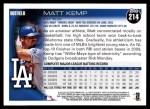 2010 Topps #214  Matt Kemp  Back Thumbnail