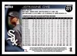 2010 Topps #271  Jermaine Dye  Back Thumbnail