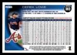 2010 Topps #383  Derek Lowe  Back Thumbnail