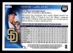 2010 Topps #368  Wade LeBlanc  Back Thumbnail