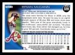 2010 Topps #320  Brian McCann  Back Thumbnail