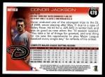 2010 Topps #478  Conor Jackson  Back Thumbnail