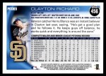 2010 Topps #456  Clayton Richard  Back Thumbnail