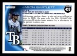 2010 Topps #438  Jason Bartlett  Back Thumbnail