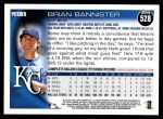 2010 Topps #528  Brian Bannister  Back Thumbnail