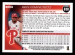 2010 Topps #630  Ben Francisco  Back Thumbnail