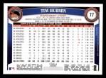 2011 Topps #77  Tim Hudson  Back Thumbnail