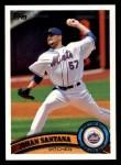 2011 Topps #56  Johan Santana  Front Thumbnail