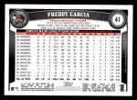 2011 Topps #41  Freddy Garcia  Back Thumbnail