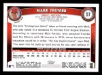 2011 Topps #57  Mark Trumbo  Back Thumbnail