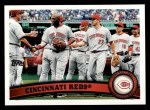 2011 Topps #192   Reds Team Front Thumbnail