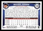 2011 Topps #184  Brandon Morrow  Back Thumbnail