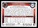 2011 Topps #151  Fausto Carmona  Back Thumbnail