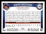 2011 Topps #165  Jeremy Hellickson  Back Thumbnail