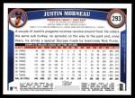 2011 Topps #293  Justin Morneau  Back Thumbnail