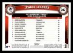2011 Topps #202   -  Jose Bautista / Paul Konerko / Miguel Cabrera AL HR League Leaders Back Thumbnail