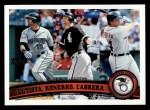 2011 Topps #202   -  Jose Bautista / Paul Konerko / Miguel Cabrera AL HR League Leaders Front Thumbnail