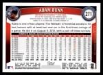 2011 Topps #271  Adam Dunn  Back Thumbnail