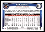 2011 Topps #284  Reid Brignac  Back Thumbnail